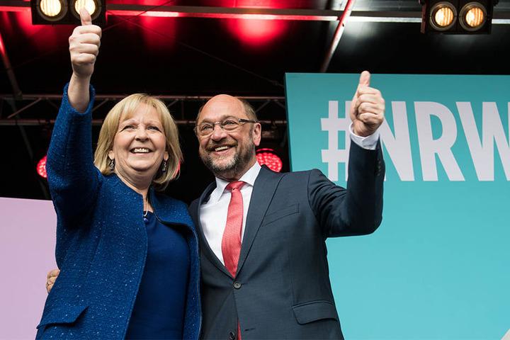Hannelore Kraft tritt für die SPD in NRW an. Martin Schulz für die SPD als Kanzlerkandidat.