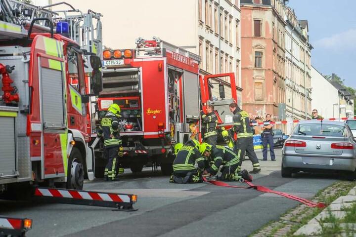 Die Feuerwehr war mit 25 Kameraden im Einsatz.