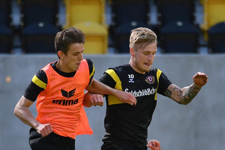 Zwei, auf die Dynamo stolz sein kann: Niklas Hauptmann (l.) und Marvin Stefaniak (r.).