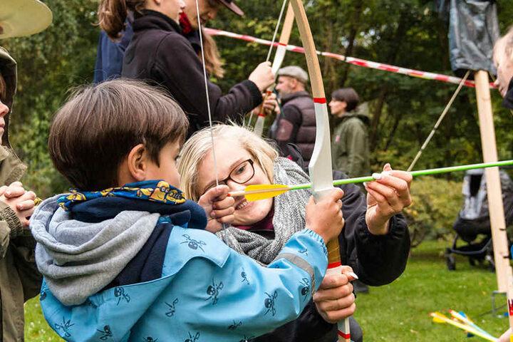 Familien können sich unter anderem mit ihren Kindern sportlich betätigen.