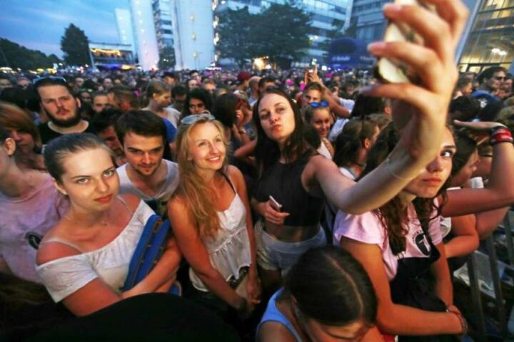 Auch Selfies durften an diesem Abend natürlich nicht fehlen.