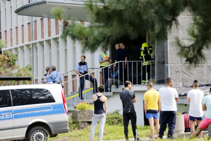 Zu dem Wohnheim in der Annaberger Straße musste die Polizei schön häufiger ausrücken.