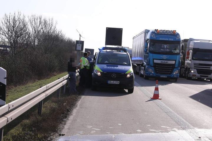 Während der Unfallaufnahme herrschte dichter Verkehr.