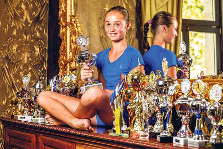 In ihrer Altersklasse ist Lavinia-Maria Nitzsche schon Deutschlands zweitbeste Tennisspielerin.