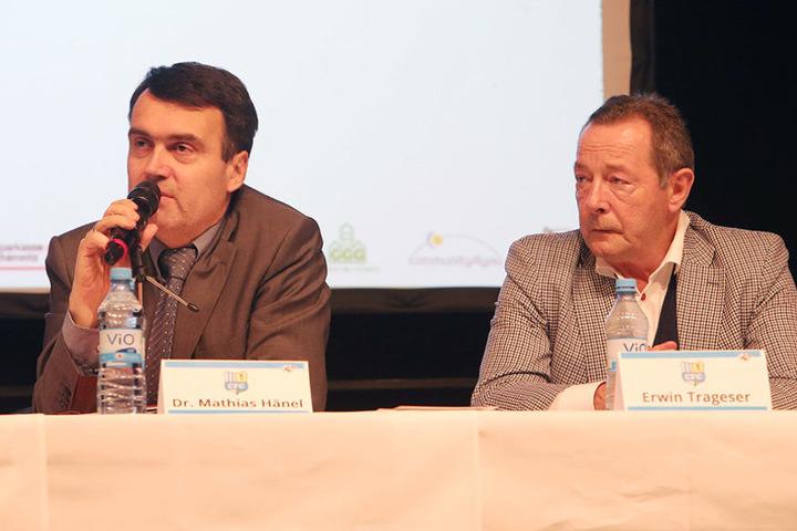 Bisheriger Vorstandsvorsitzender Hänel und Erwin Trageser, stellvertretender Aufsichtsratvorsitzender, im Dezember. Trageser steht erneut zur Wahl.