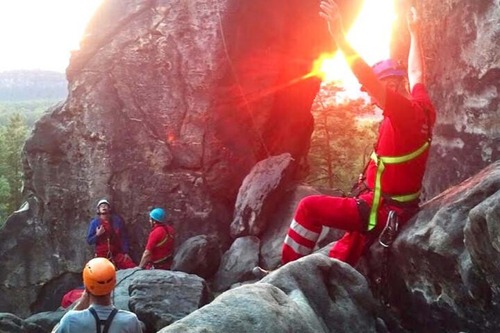 """Eine Bergsteigerin stürzte am Kletterfelsen """"Zwerg"""" mehrere Meter in die Tiefe."""