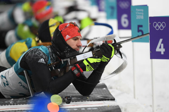 Beim Biathlon-Sprint über 10 km sicherte sich der 30-Jährige die Gold-Medaille.
