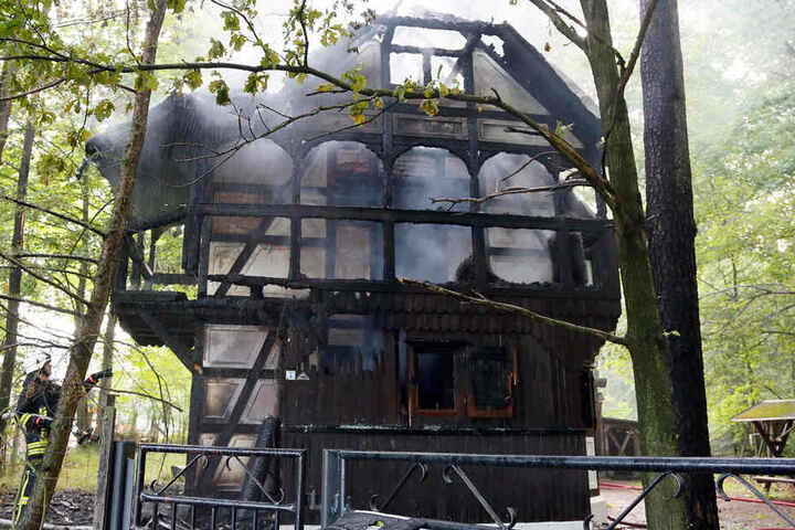 Die Naturschutzstation in Herrenhaide brannte im Juni 2013 komplett ab.