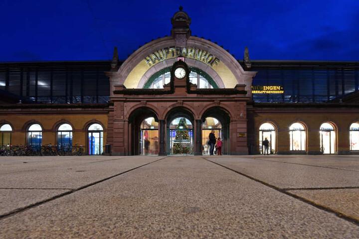 Die Eingangshalle des Bahnhofs soll in der Nacht der Hauptschauplatz der Übung werden.