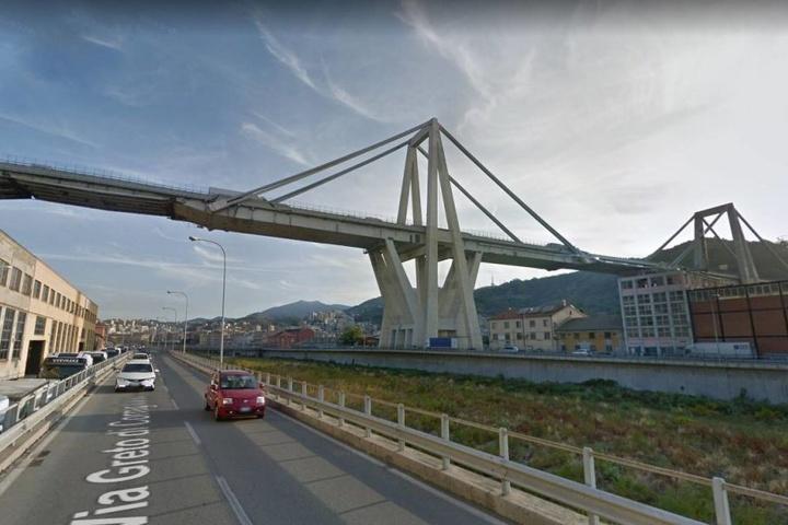 So sah die Brücke vor dem schrecklichen Unglück aus.