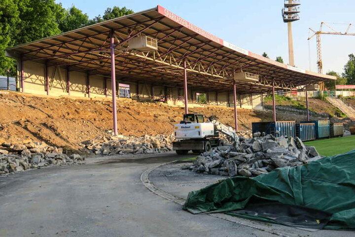 Das Erzgebirgsstadion in Aue wird derzeit saniert.