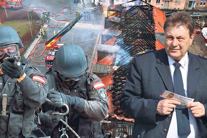 OAZ-Chef Bernd Merbitz (re.), Sachsens  oberster Extremismus-Ermittler, hat viel zu tun.
