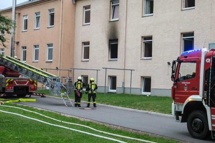 In der Asylunterkunft brannte es in einem Zimmer.