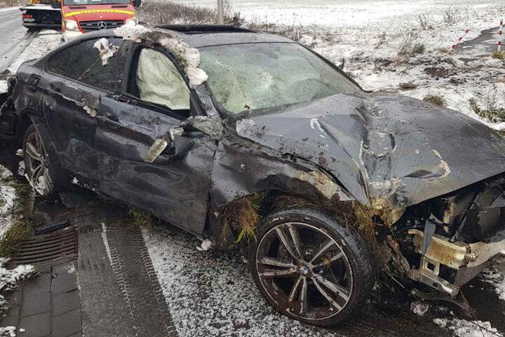 Der BMW war komplett zerstört.