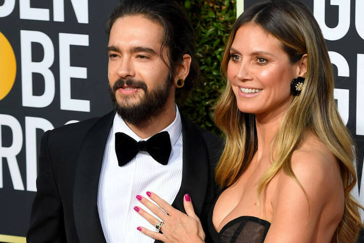 Tom Kaulitz und Heidi klum bei den Golden Globe Awards im Januar 2019.