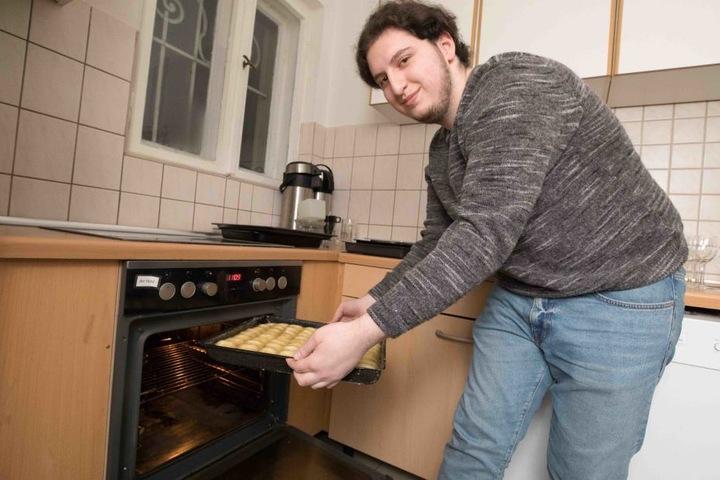 Dann geht es ab in den Ofen...