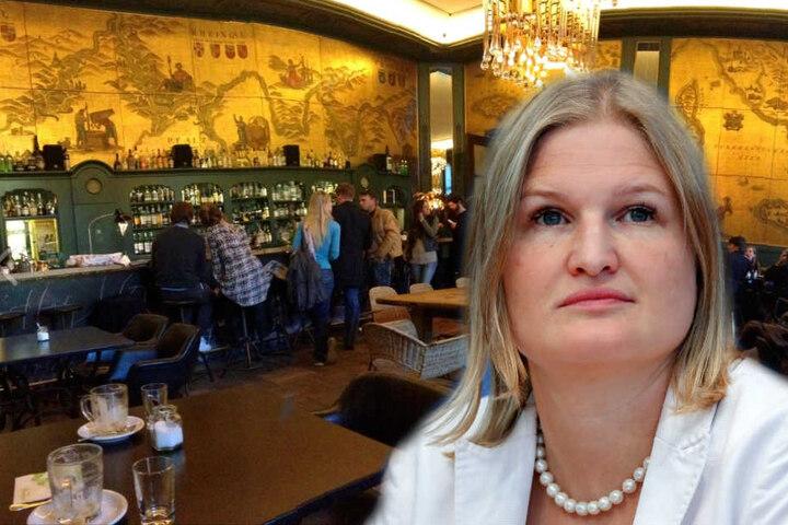 Ebner-Steiner war in der Goldenen Bar in München nicht willkommen. (Bildmontage)