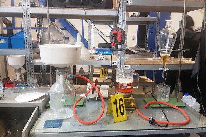In diesem Drogenlabor sollte die Crystal-Produktion im großen Stil anlaufen.