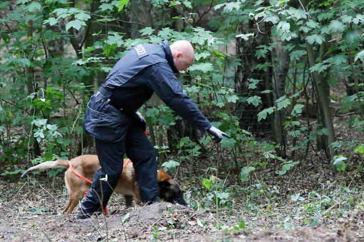 Ein Leichenspürhund hat die Polizisten bei der Suche nach der Vermissten unterstützt.
