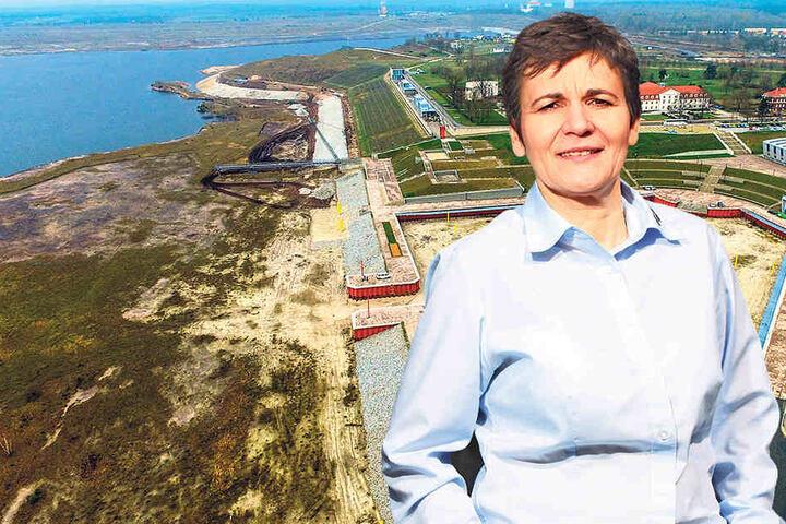 Geschäftsführerin Kathrin Winkler (52) freut sich: Ihr Tourismusverband Lausitzer Seenland ist erst fünf Jahre jung - und fährt schon Rekordwerte ein.
