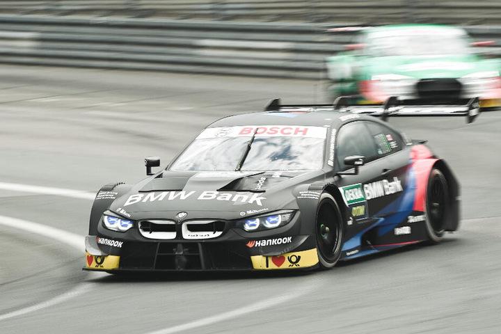 Deutsches Tourenwagen-Masters, Norisring - 2. Rennen. Bruno Spengler (BMW Team RMG, vorne) führt das Feld an.