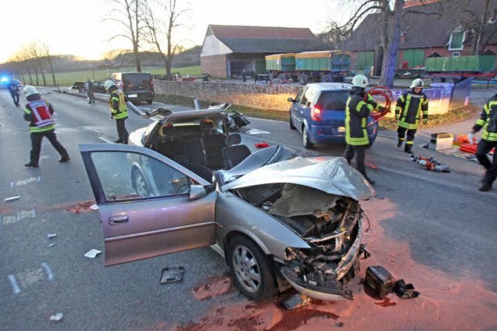 Lange war die Bielefelder Straße gesperrt.
