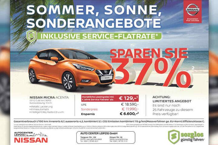 autocenter leipzig verkauft 25 nissan-modelle 37% günstiger