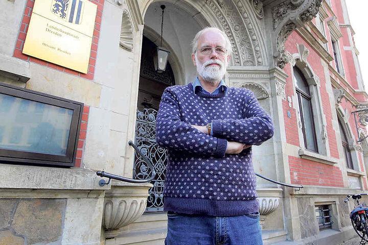 Wolfgang Daniels (65), Ortsbeirat der Grünen.