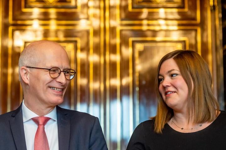 Noch regieren Peter Tschentscher (SPD) und Katharina Fegebank (Grüne) im Rathaus zusammen.