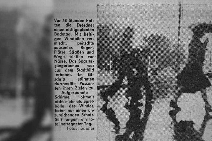 Regen ohne Ende, von Sommer war keine Spur: So berichtete am 10. August 1978 die Sächsische Zeitung.