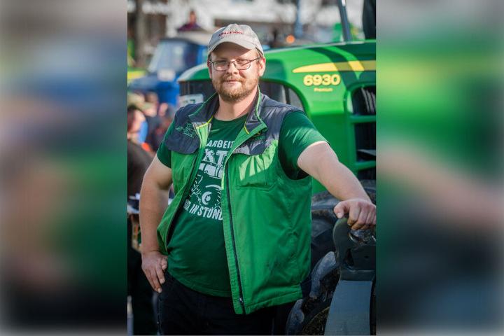 Mitorganisator Georg Stiegler (32) will - wie alle anderen Bauern in Deutschland - enger in die Entscheidungsprozesse der Regierung einbezogen werden.