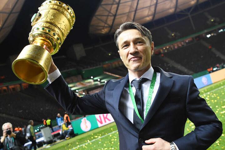 Trainer Niko Kovac konnte mit seiner Mannschaft in seiner ersten Saison das Double gewinnen.