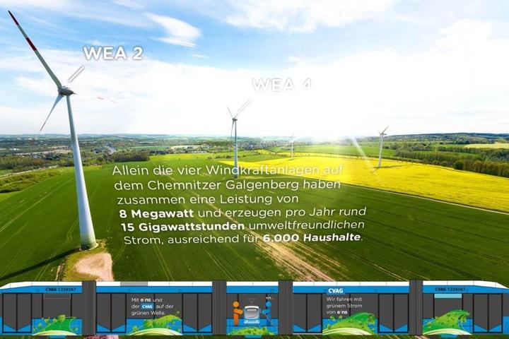 Kleine Spielerei: Per QR-Code und Smartphone hat Energieversorger Eins seine Ökostrom-Offensive ins 3-D-Bild gesetzt.
