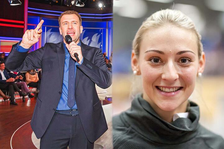 Sportmoderator René Kindermann (41) und Vize-Weltmeisterin im Dreisprung Kristin Gierisch (26) präsentieren die Sport-Gala.