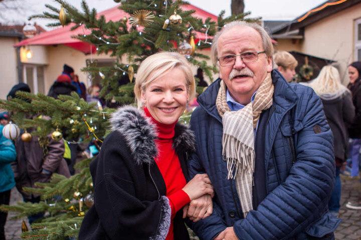 Andrea Kathrin Loewig mit Dr. Werner Wehmer (71), Vorstandsvorsitzender der Leipziger Tafel.