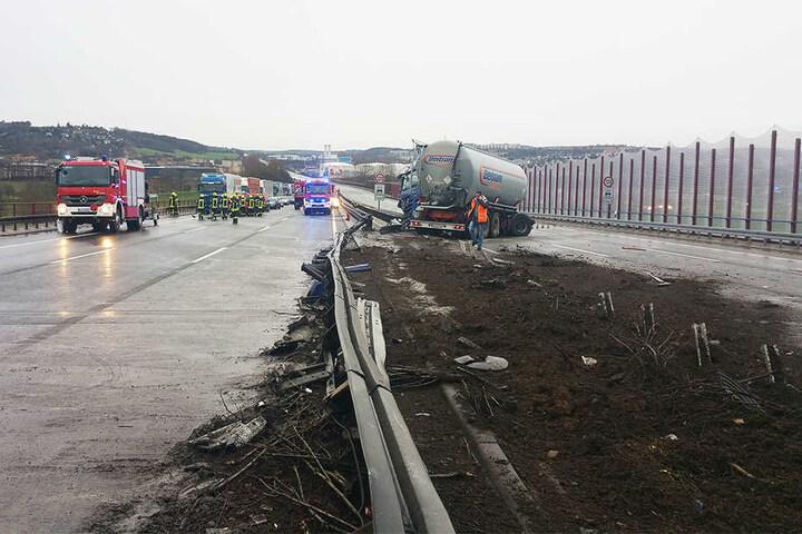 Der Unfall hinterließ ein Bild der Zerstörung.