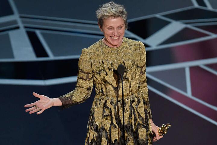 Frances McDormand (60) wurde bei der Oscar-Verleihung als beste Schauspielerin ausgezeichnet.