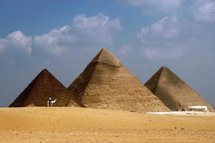 Die Cheops-Pyramide in Ägypten.