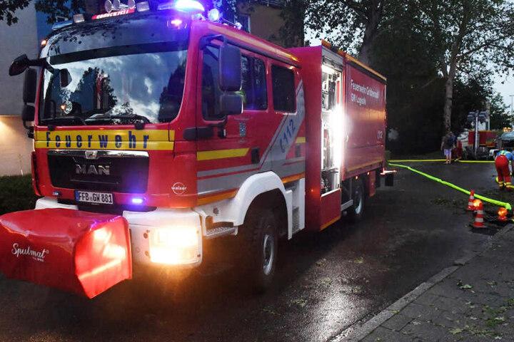 Unwetter in Bayern: Die Feuerwehr musste zu Beginn der Woche im Freistaat gleich mehrfach ausrücken.