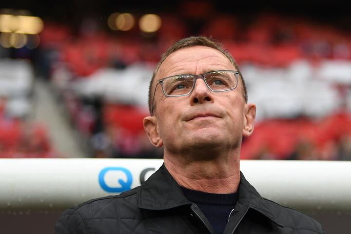 Stand wohl das letzte Mal als Trainer von RB Leipzig in einem Heimspiel an der Seitenlinie: Ralf Rangnick, der nach der Saison den Weg für Julian Nagelsmann freimacht.