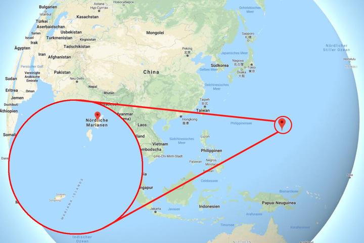 Die Insel Saipan liegt zwar in Asien, gehört aber zu USA.