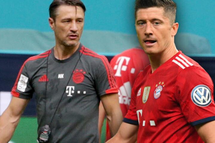 Niko Kovac (l.) wird Robert Lewandowski (r.) in diesem Sommer nicht ziehen lassen.