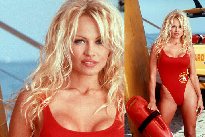 "Pamela Anderson bei ""Baywatch""."