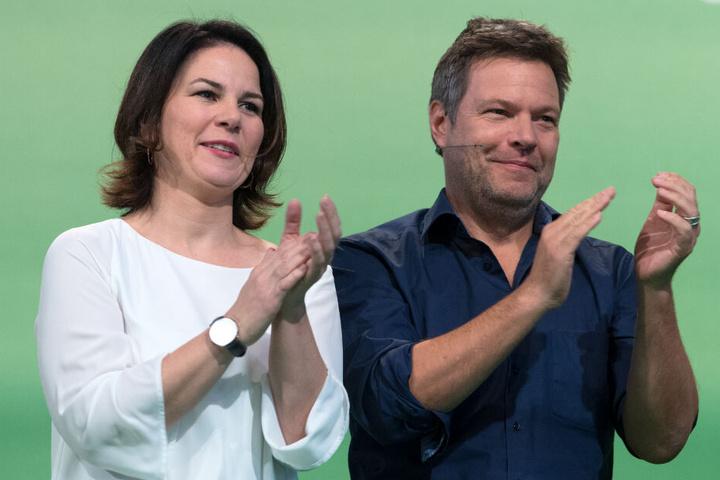 Die Bundesvorsitzenden der Grünen: Annalena Baerbock und Robert Habeck.