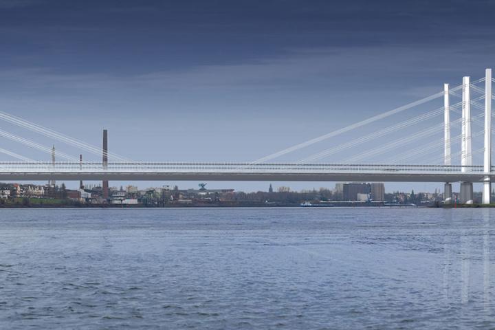 Ein Blick auf die neue Brücke, die bis 2026 stehen soll.