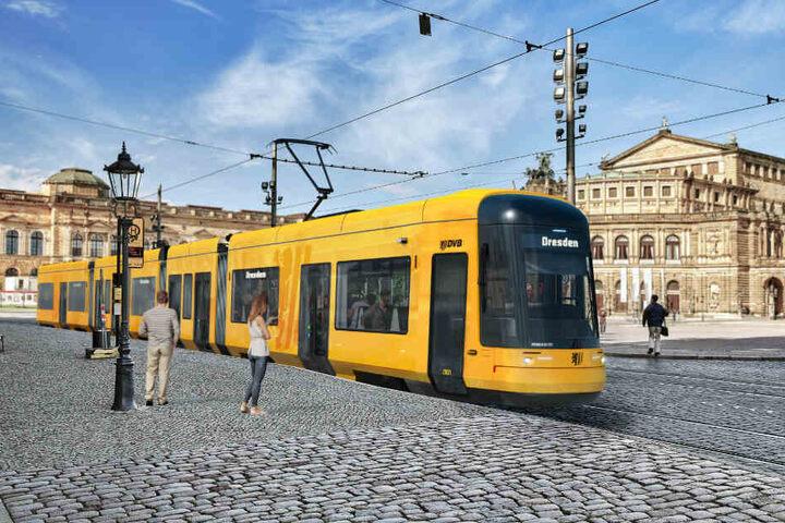 Ab Sommer 2021 kurven die ersten neuen Trams durch Dresden.