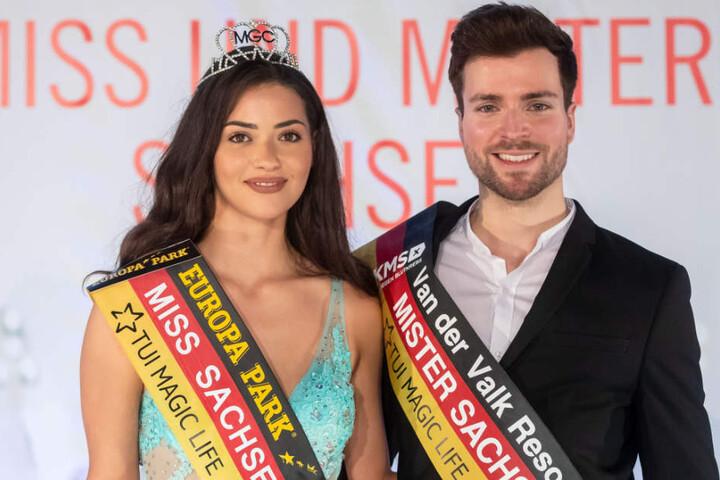 Miss und Mister Sachsen 2018 alias Anastasia Aksah (21) und Tobias Ritter (28).