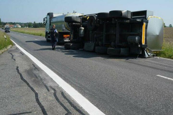 Auf der B156 kam es zu einem ganz ähnlichen Unfall.