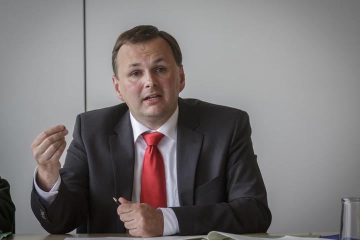 André Schollbach (39, Linke) rechnet sich gute Chancen aus, am Sonnabend zum  Partei-Chef gewählt zu werden.