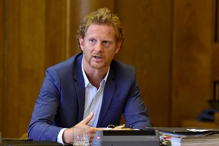 Baubürgermeister Michael Stötzer (44, Grüne) hat schon Vorschläge für die Straßennamen.